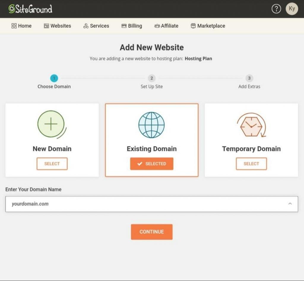 How to setup WordPress site on siteground